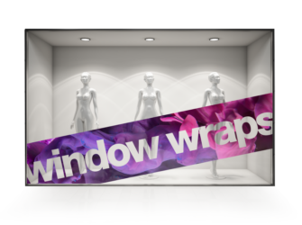 shop window wrapping -